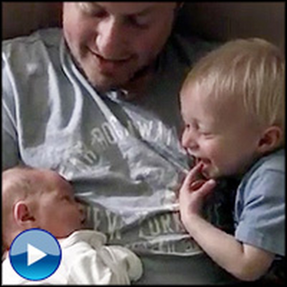 Big Brother is Overwhelmed With Joy When Meeting Newborn Sister