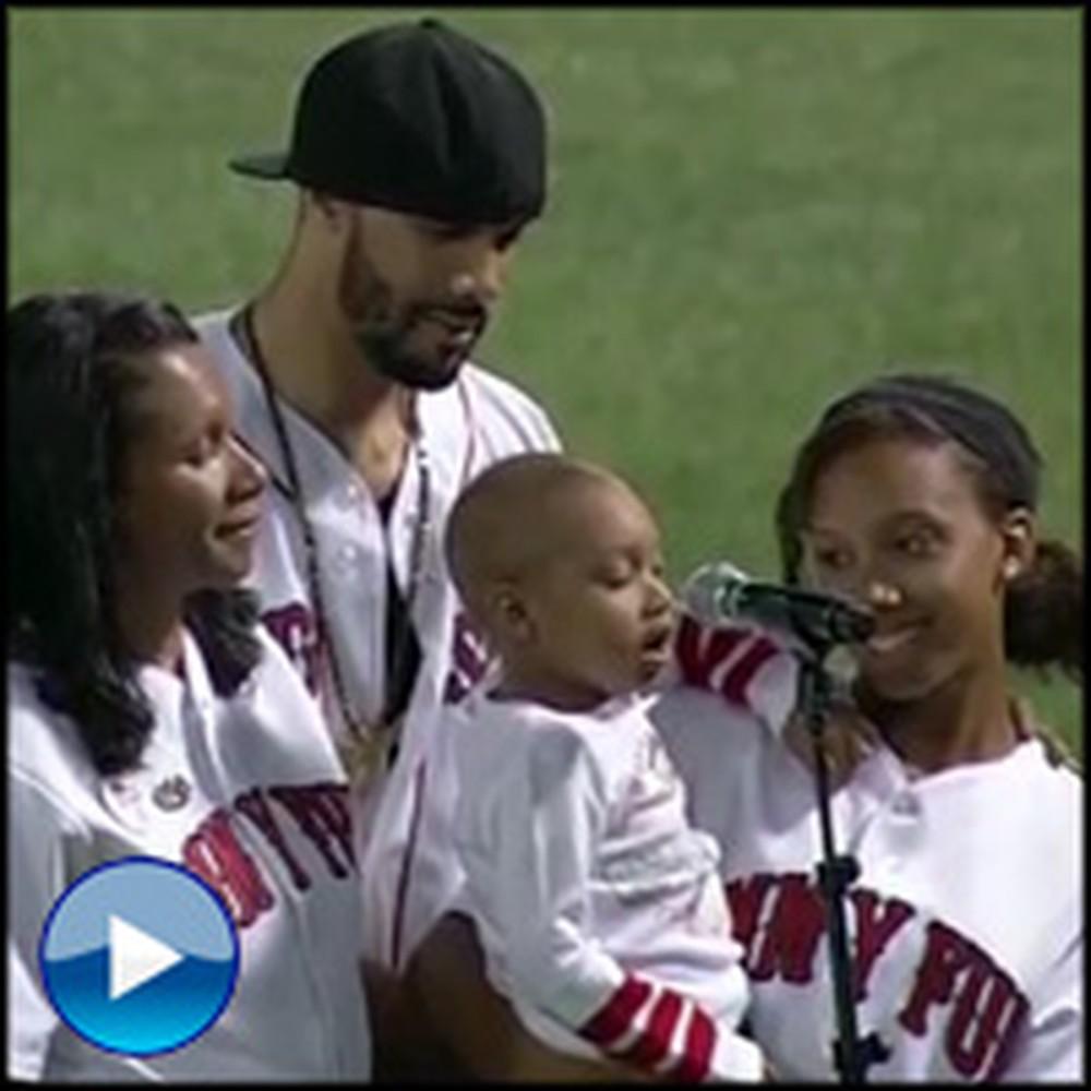 4 Year-Old Angel Battling Leukemia Sings