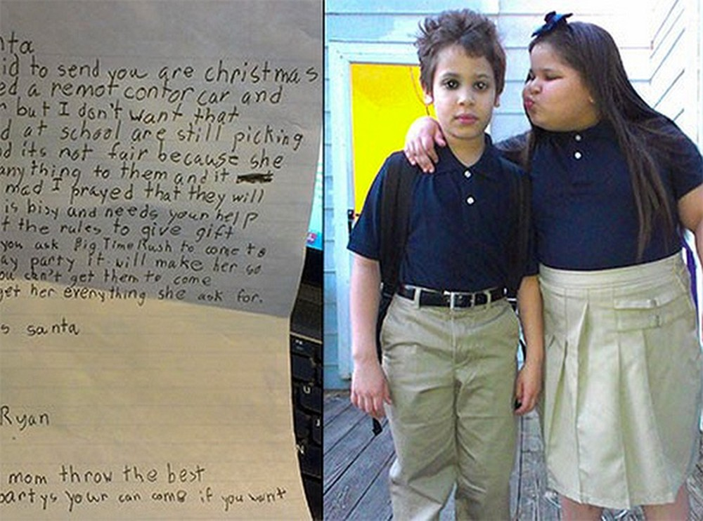 8 Year-Old Selflessly Asks Santa to Help His Twin... So Heartwarming.