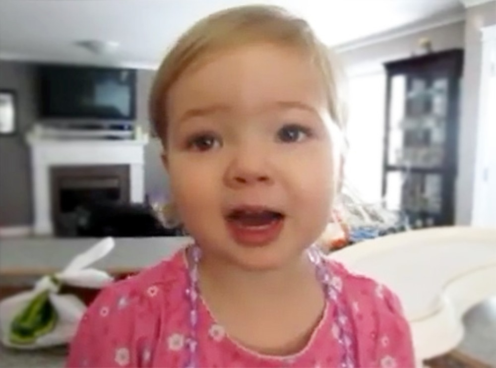 Sweet Toddler Adorably Sings Her Heart Out to Adele