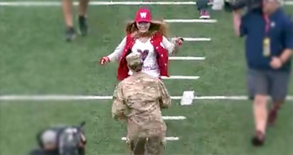 Army Captain Surprises Her Daughter in Front of Thousands - Sweetest Video Ever