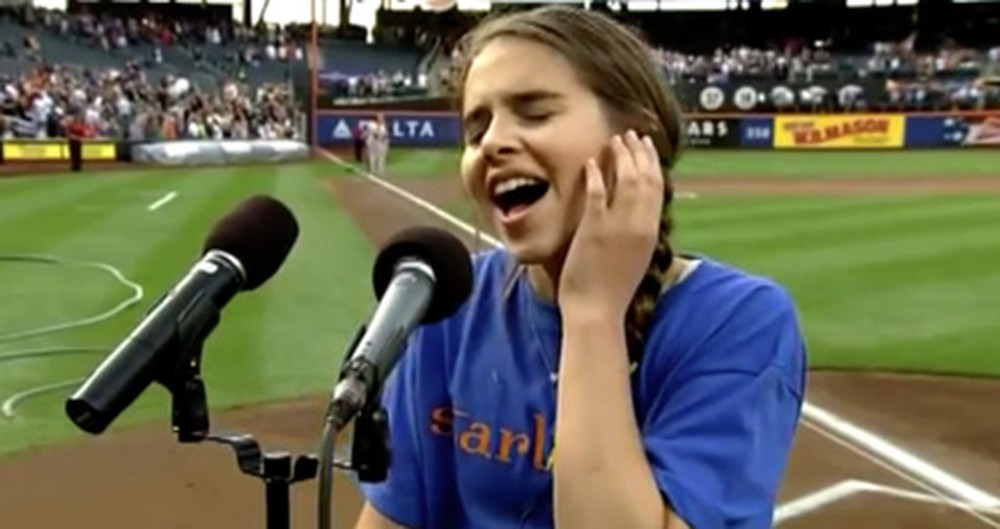 This 13 Year-Old Can Sing the National Anthem Like No One Else - WOW!