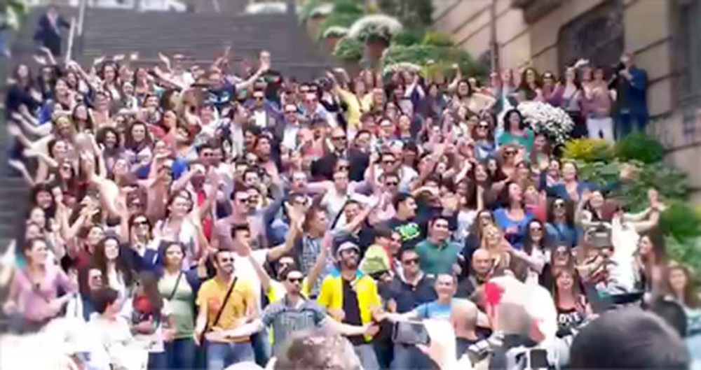 This Huge Group of Christians Singing to God in the Street is Going to Wow You.