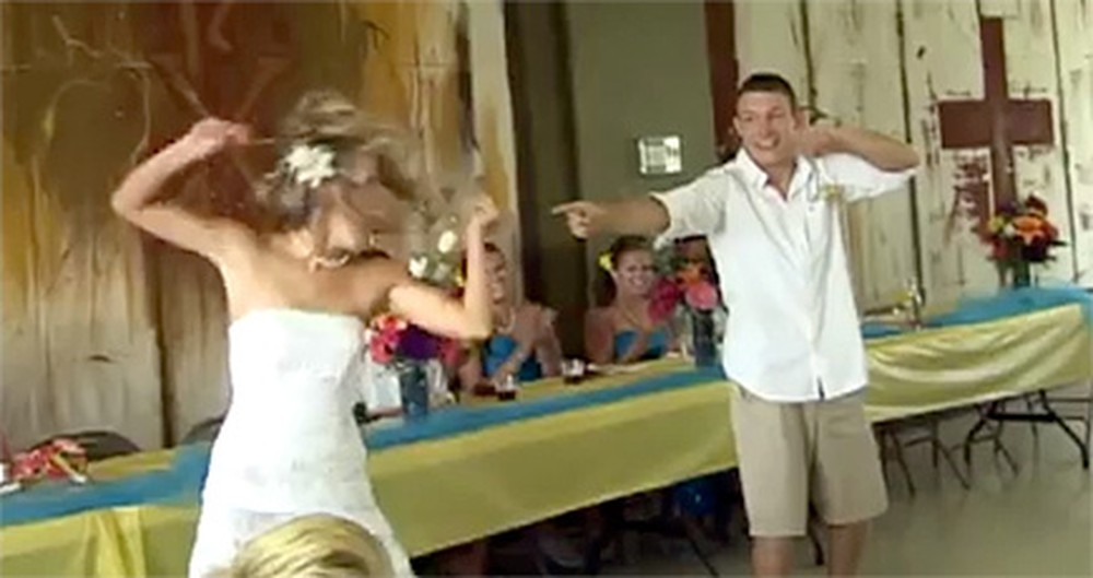 A Goofy Christian Couple Surprises the Entire Reception with a Hilarious Dance