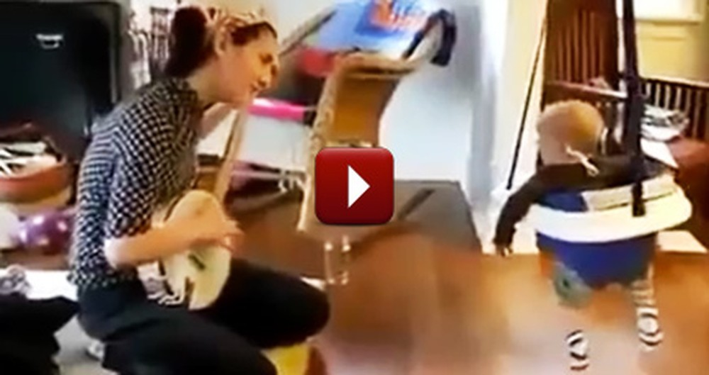Baby Can't Help but Boogie to His Favorite Type of Music... Awww, So Cute