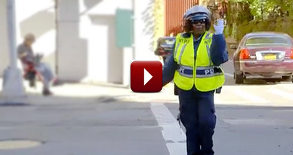 She Was Hit by Cars Twice, But This Traffic Cop Knows How to Stay Happy - DANCE!
