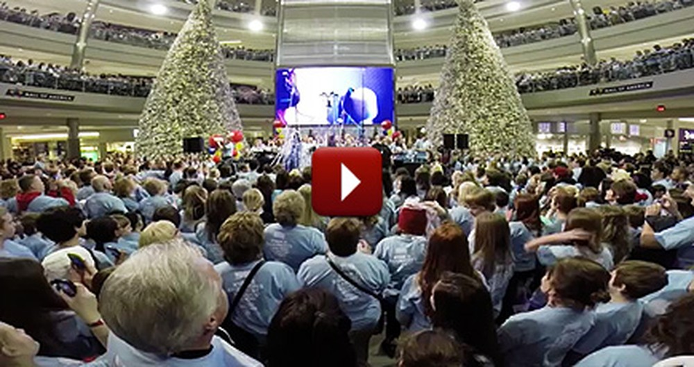 Thousands Gather to Honor a Boy Who Died From Cancer by Singing His Song