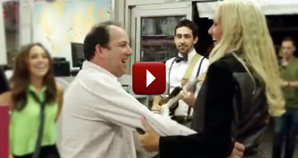 Lucky Customers Get a Joyful Surprise While at the Dry Cleaners