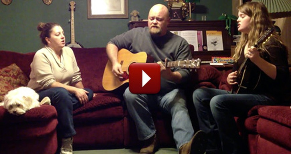 Loving Family Sits Together & Praises the Lord - a Wonderful Performance