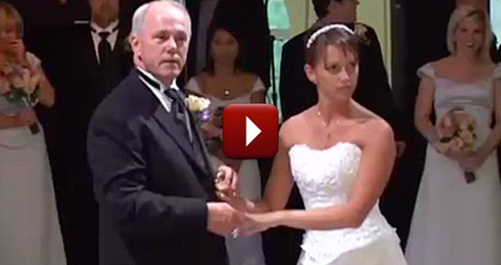 Father and Bride Shocked Their Guests With an Awesome Surprise