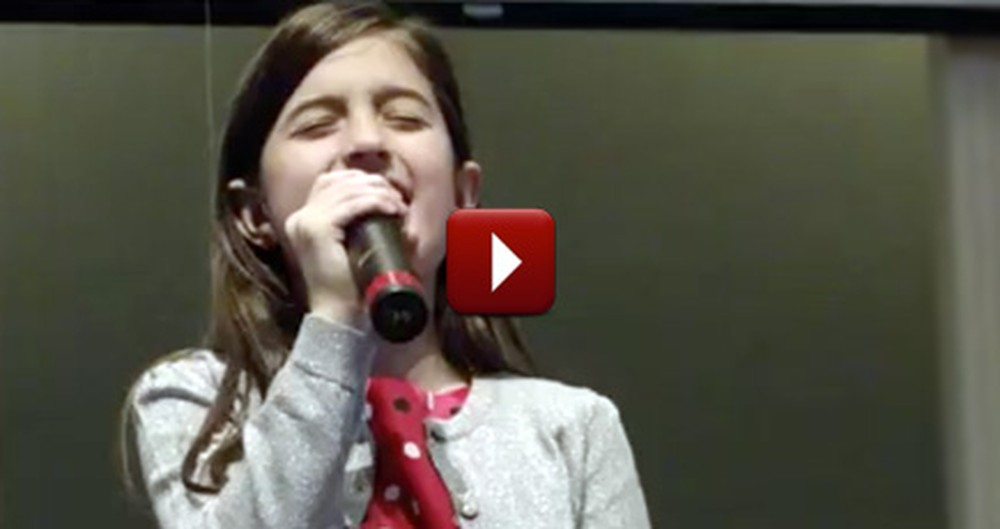 A 9 Year-Old Beautifully Sings Her Heart Out to the Lord