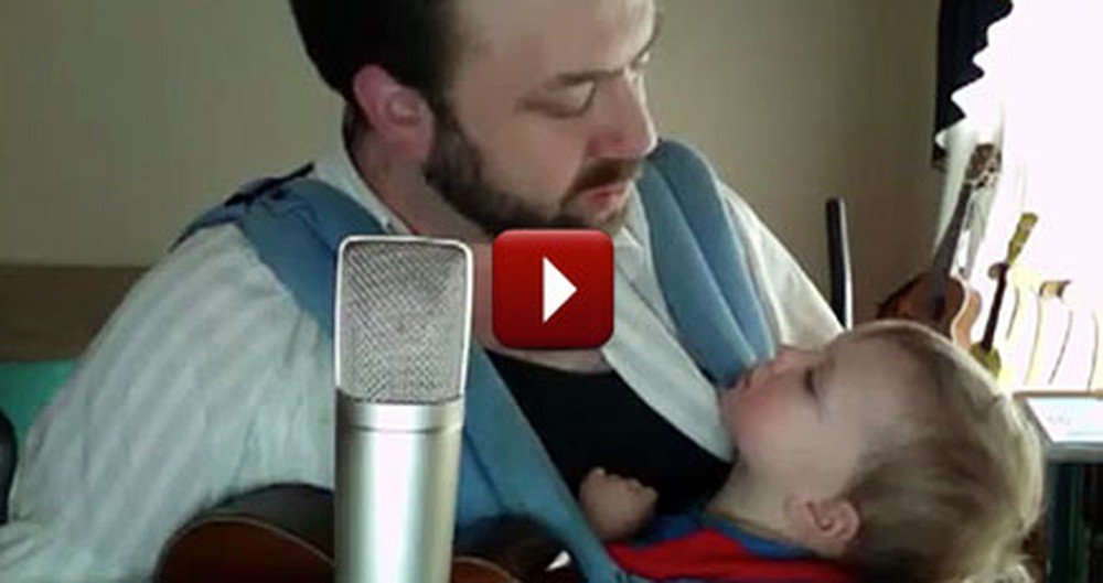 Loving Father Sings Hallelujah to his Baby Boy