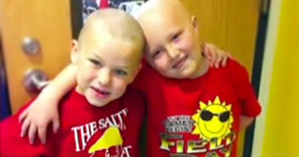 A First Grader Shaved his Head When His Best Friend Got Cancer