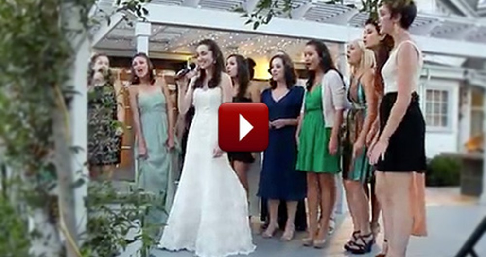 Loving Bride & Best Friends Give the Groom an A Cappella Surprise