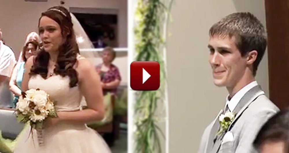 Bride Begins Her Own Wedding by Singing to Her Groom Up the Aisle