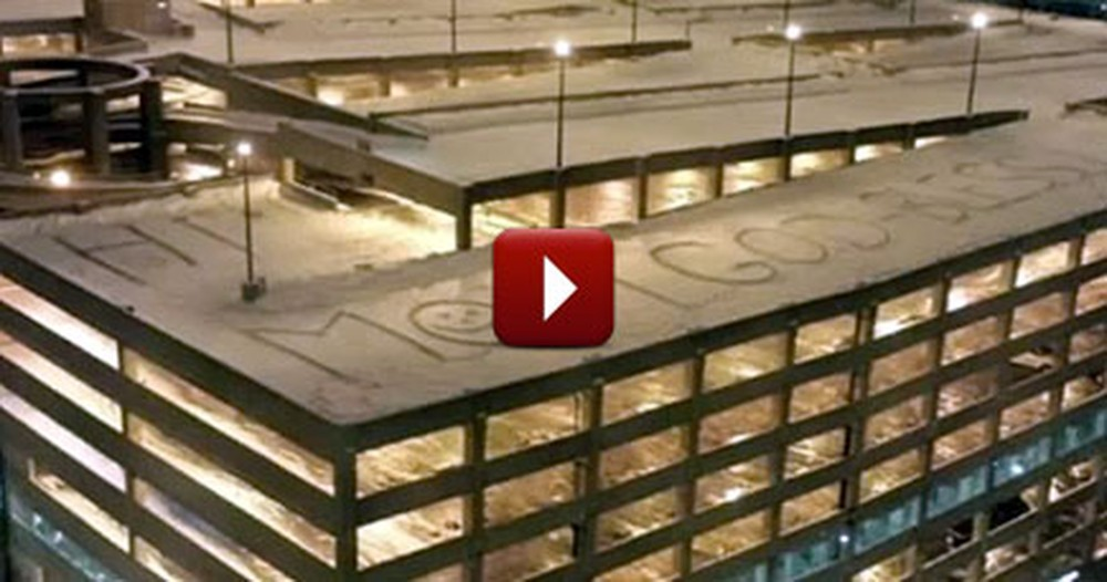 Mysterious Message in the Snow Spreads Love to an Entire Hospital