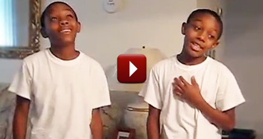 2 Christian Boys Sing Their Praises to God with I Love You Lord