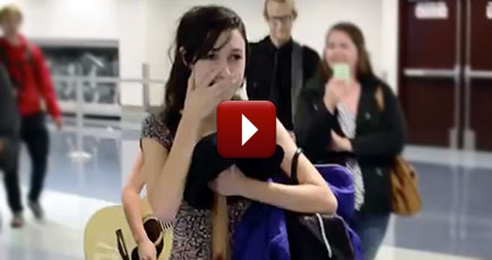 It'll Be Hard for Anyone to Forget This Magical Airport Proposal