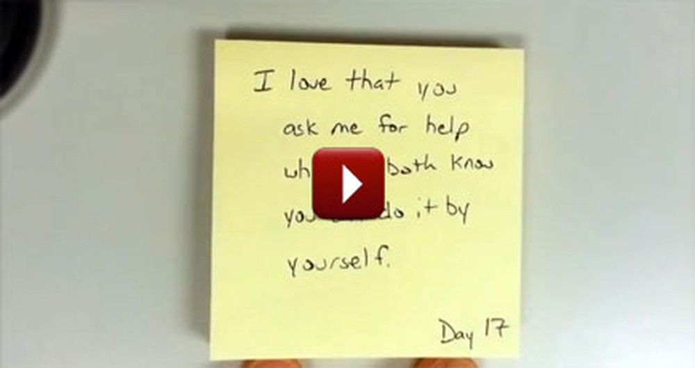 One Man Found the Cutest Way to Make His Wife Feel Loved for Weeks