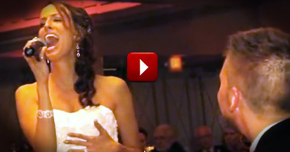 Beautiful Bride Serenades Her New Husband With a Romantic Classic