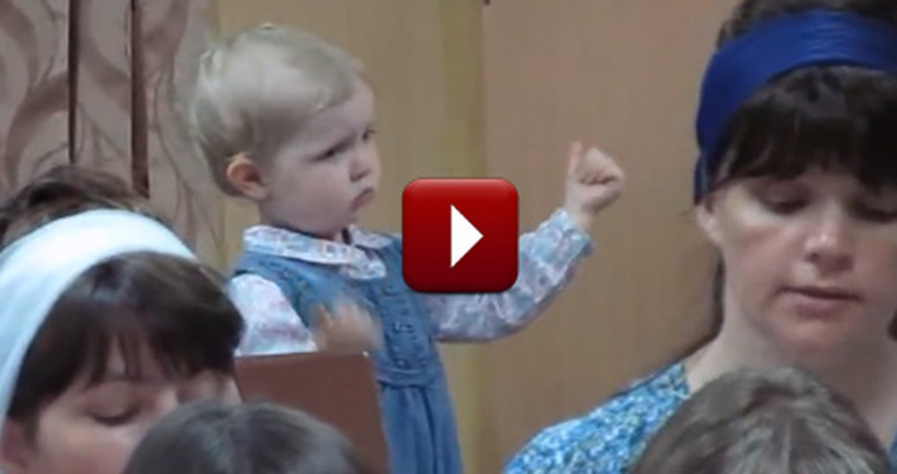 Little Girl Adorably Conducts the Church Choir -- So Sweet!