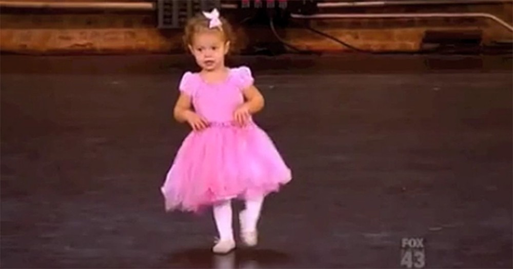 2-Year-Old Ballerina Crashes Mommy's Audition... and Steals the Show!