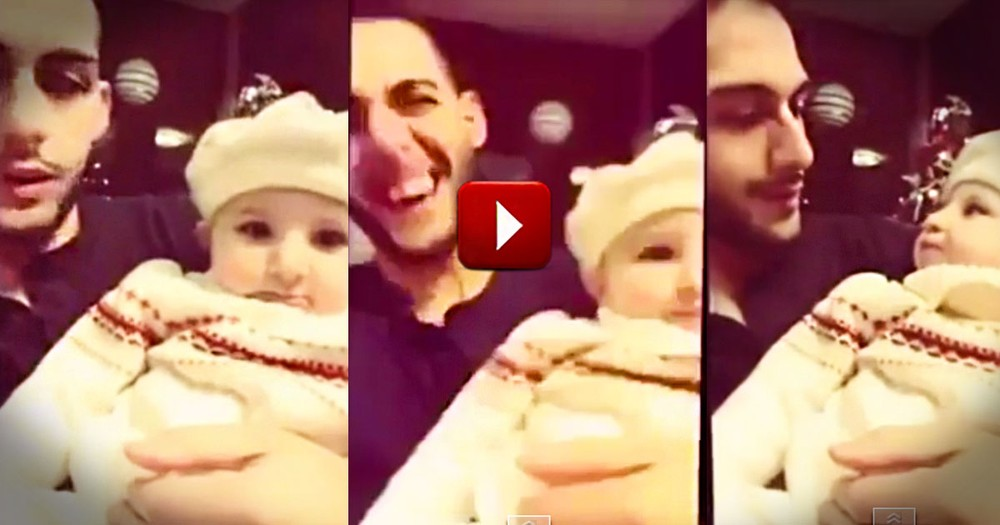 What Happens at 12 Seconds Made Me Laugh So Hard.  I Can't Stop Watching This Funny Baby!