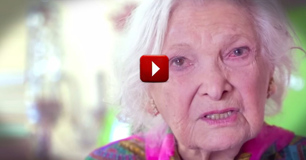 What This 100 Year Old Woman Says at 2:35 Made Me Cry. This Is The Sweetest Thing Ever!