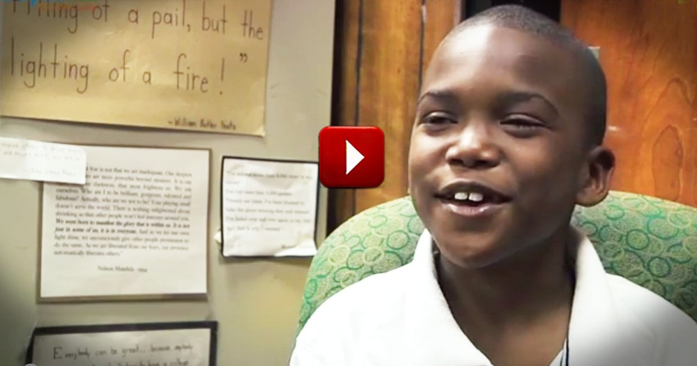 This Kind Boy's Strength Left His Principal in Tears. At 1:31, I Needed Tissues, Too!