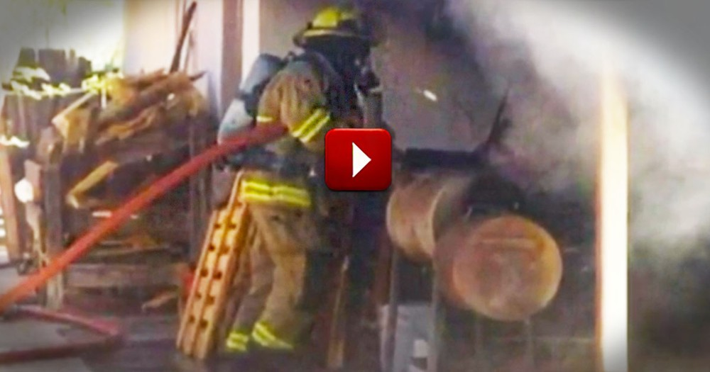 How This Man Escaped His Burning Home Is A MIRACLE. And Who Got Him Out Is Even Better!