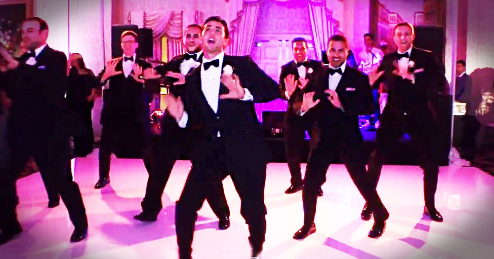This Groom Is About To Give His Bride 1 Awesome Surprise. And He's Got Some Serious Moves!