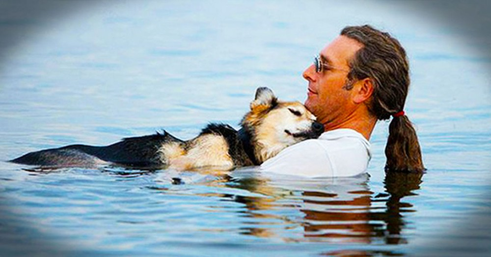 Man Comforts His Best Friend of 19 Years - a Dying Dog
