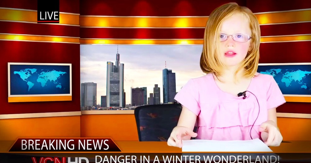 This Just In-2 Girls Give World's Cutest 'News' Report. It'll Make Your Day, Unless You're In Canada