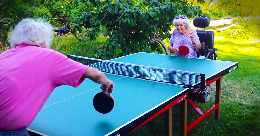 If You Think Age Is Anything But A Number Check Out THIS Granny. The Ninja Serve At 55 Seconds-WHAT!