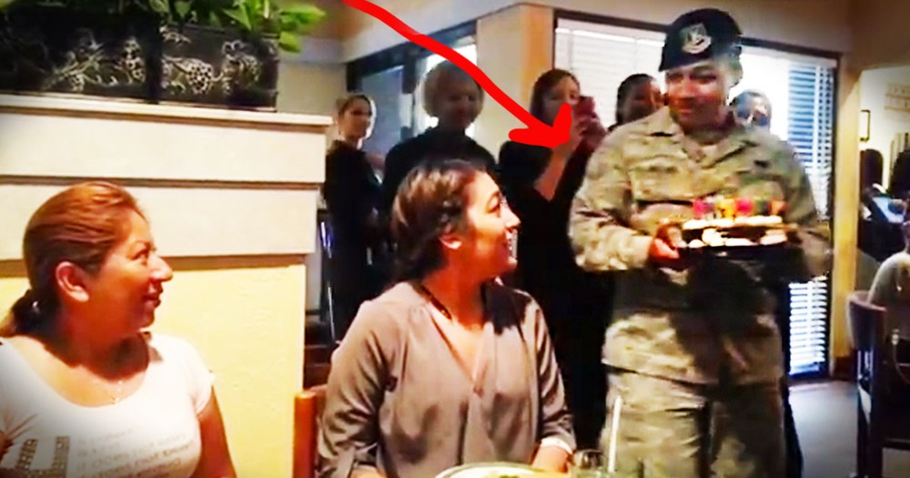 This Girl Just Got The Most AMAZING Birthday Surprise. Hint It's Not The Cake!