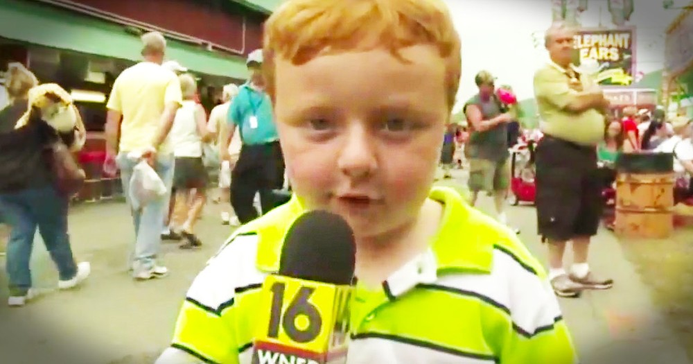Apparently, This Little Cutie Had Never Been On TV Before. And Apparently, He Steals The Show! LOL