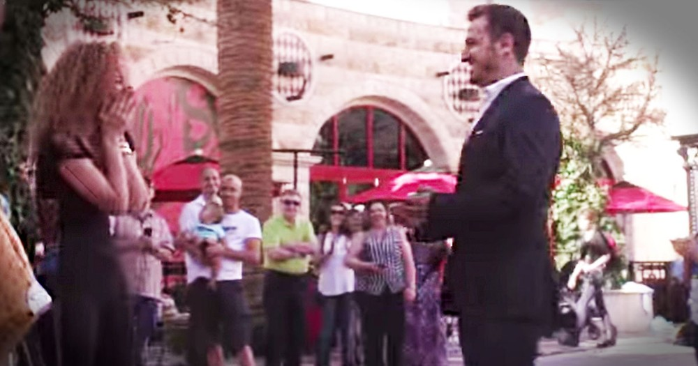 This Woman Planned Her Own Flash Mob Proposal and Had NO Clue. Just Wait For This Awesome Surprise!
