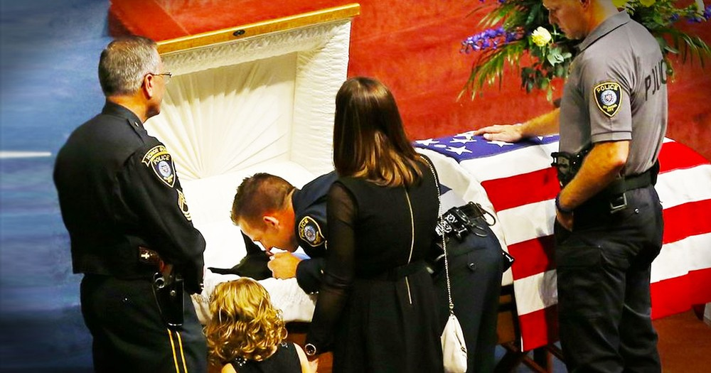 This Dog's Life Was Lost Defending A Police Officer. And How They Said 'Goodbye' Had Me In Tears!