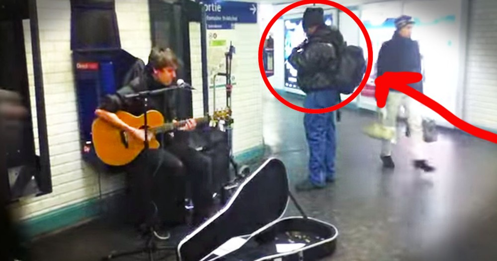 At First I Didn't Know What This Stranger Was Hiding In His Backpack. But His Surprise At :26 - WHOA