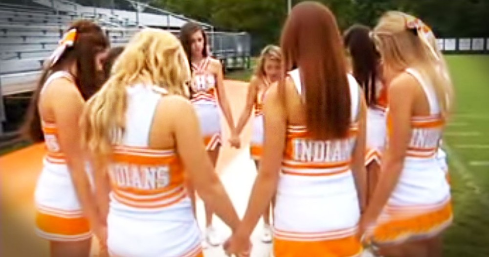 Administrators Told Them They Had To Stop PRAYING. But These Cheerleaders Refused To Listen--AMEN!
