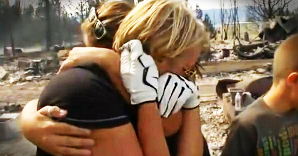 This Woman's House Burned to the Ground. But After A Firefighter's Find, She's Crying HAPPY Tears.