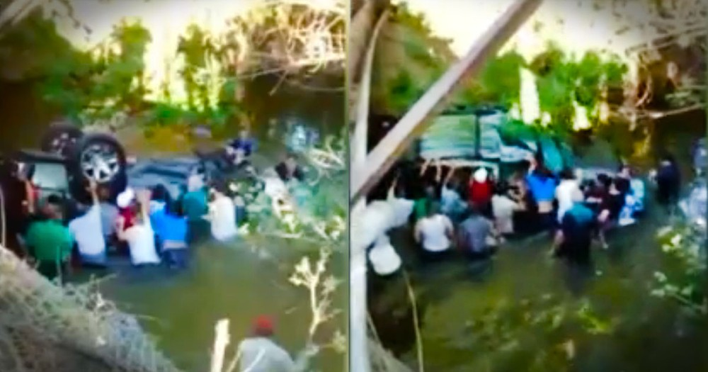 Good Samaritans Plunged Into The River To Rescue Teens Trapped In An SUV. Bless These Kind Strangers
