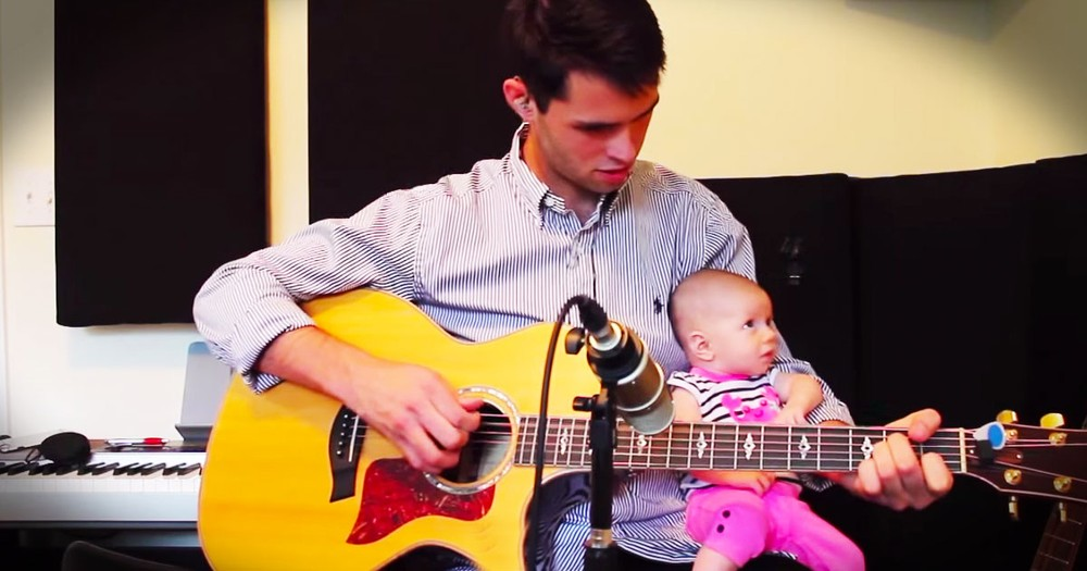 This Daddy Shares An Important Secret With His Little Angel. And You've GOT To Hear It--Awww!