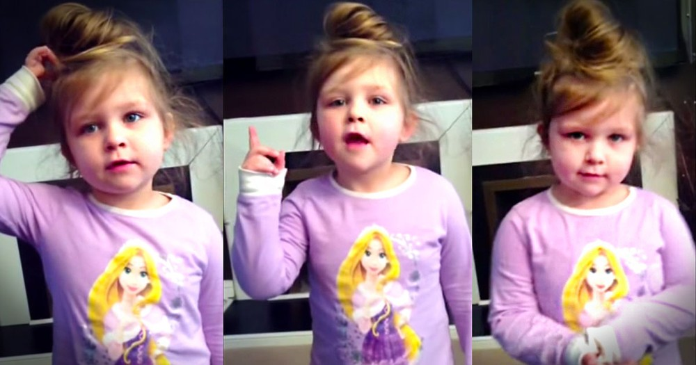 Apparently, This 4-Year-Old Doesn't Know All The Words. But She's Still Gonna Put On A Precious Show