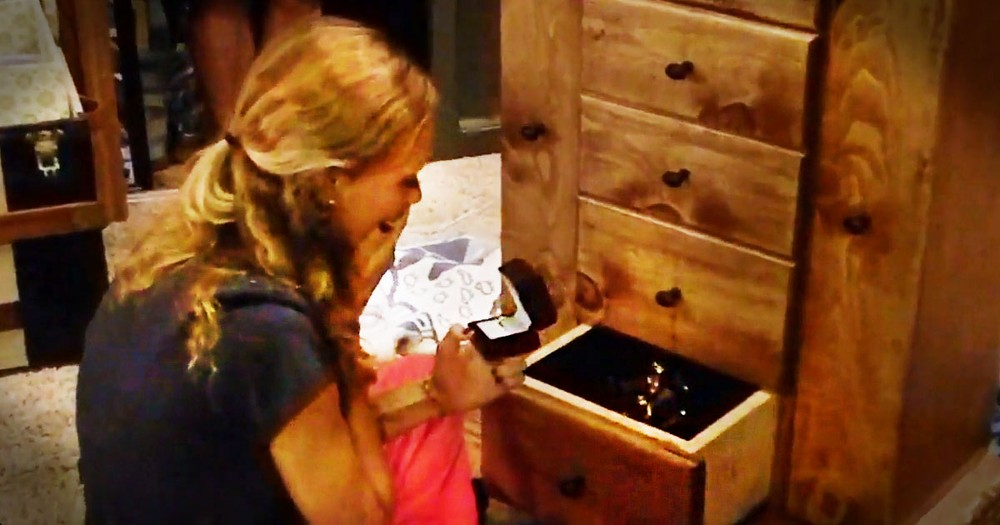I Was Already Amazed By This Gift. But When She Opened The Bottom Drawer, My Jaw DROPPED!