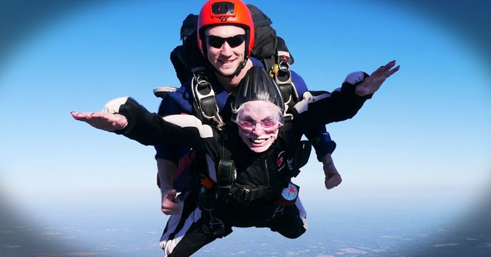 My Heart Skipped A Beat When This 84-Year-Old Jumped Out of a Plane. Why She Did It Is The Best Part