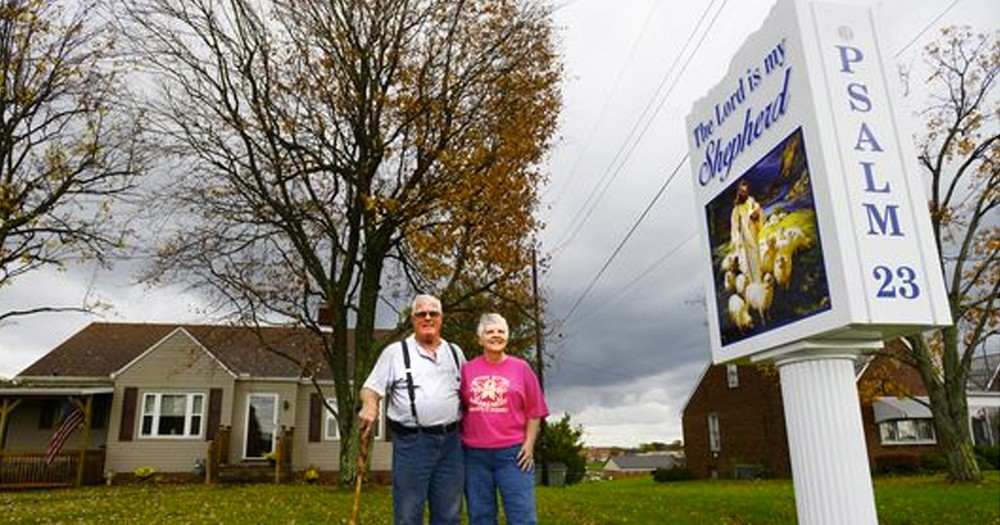 Godly Couple Put Jesus Sign on Their Property beside a School