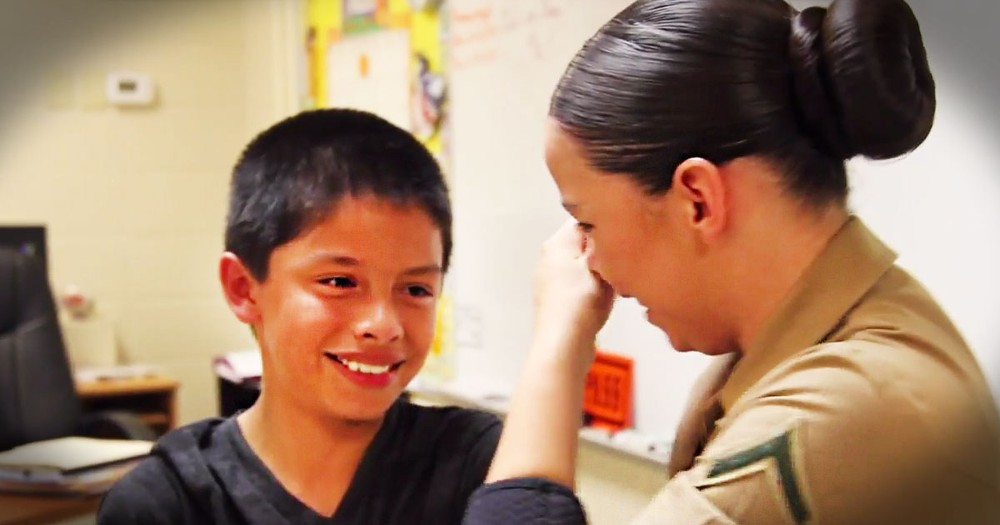 Marine Gets Surprised With Help To Get Her Family Back--TEARS!