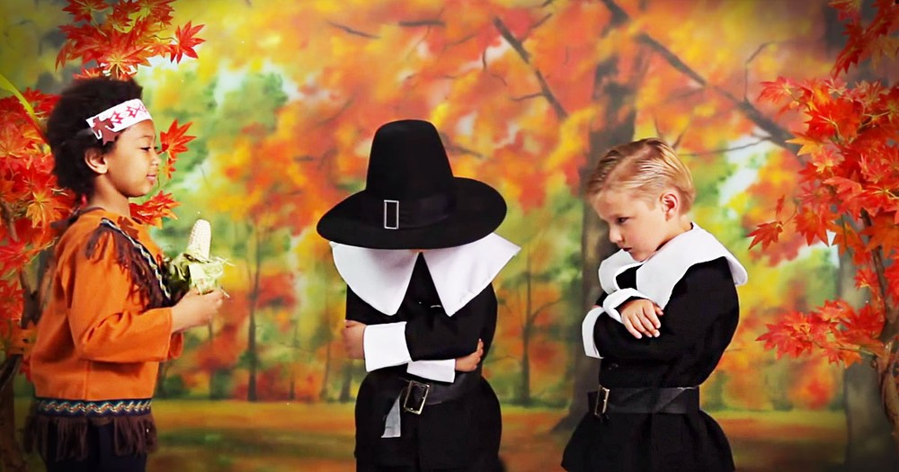 Funny Kids Tell The Story Of Thanksgiving...Kinda