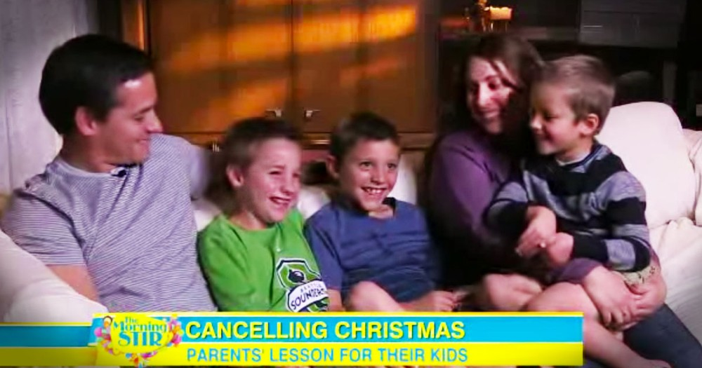 Parents Cancel Christmas For Naughty Kids And Cause Quite A Stir